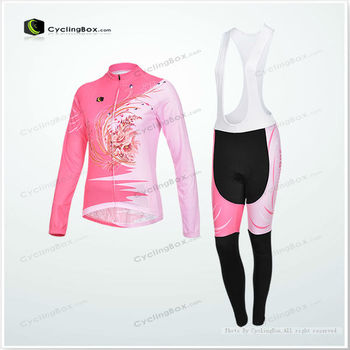 Polyester long sleeve cycling jersey women bike clothes China manufacture