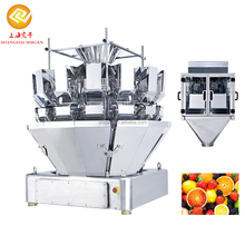 Automatic spiral measuring salad multihead weigher packing machine