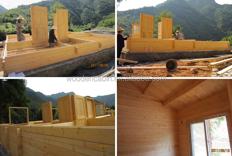 Diseño único hermoso de madera jardín de la casa, jardín de la ...