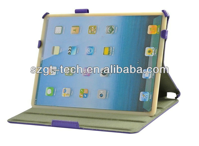 Stand case for iPad air with handle strap and stylus holder