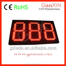 "Ganxin GO3D-12R 12"" 3 red outdoor waterproof clock 7 segment led display"