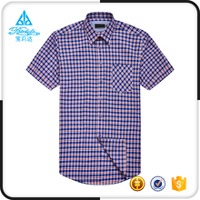 New fashion casual men half sleeve formal cotton checks shirts for summer