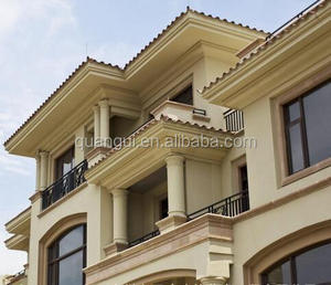 Foshan factory sales waterproof exterior decorative GFRC cornice molding for construction real Estate
