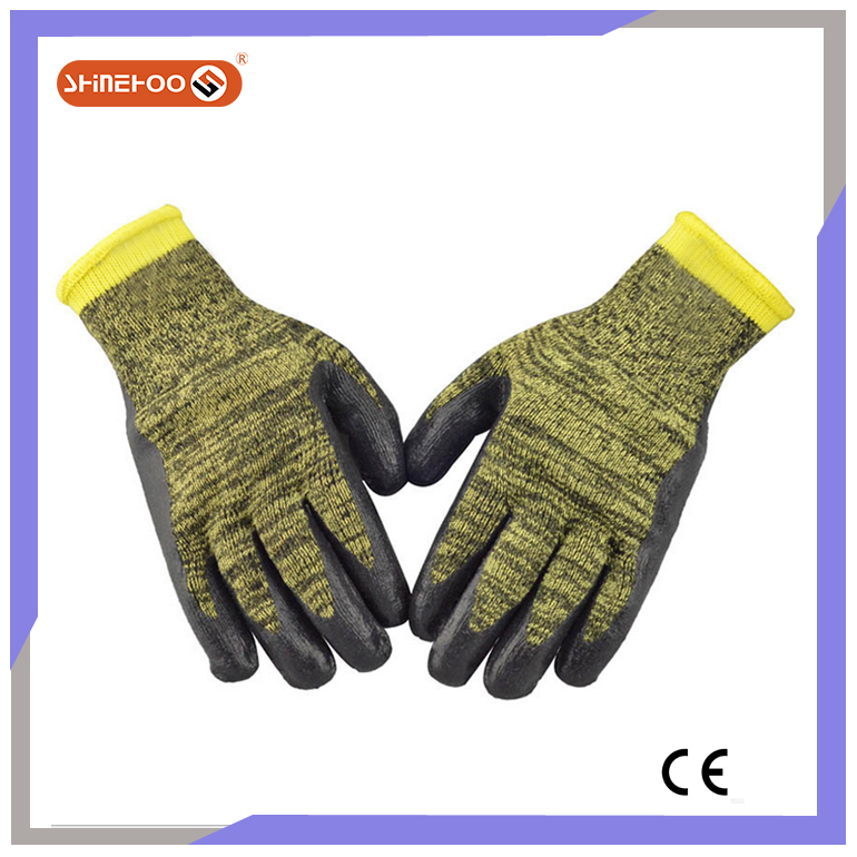 SHINEHOO 10 Gauge Camouflage Foam Latex Work Gloves