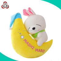 custom Stuffed soft animal rabbit baby pillow plush kids toy wholesale
