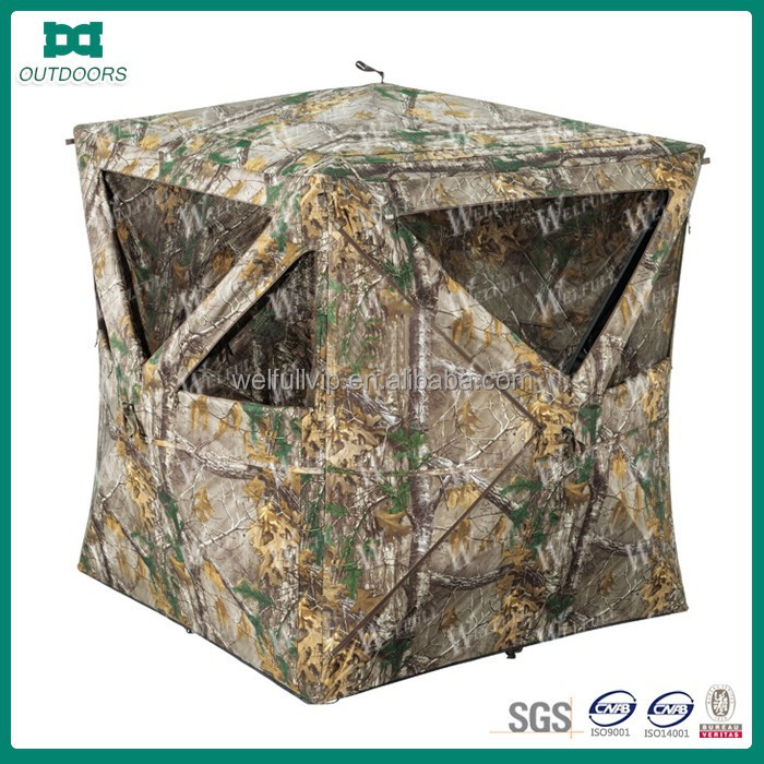 High quality camouflage shelter hunting tent in the forest and wild field