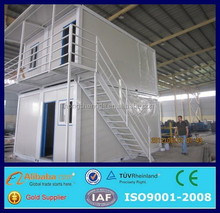 low cost two-storey prefabricated steel house/flatpack office container
