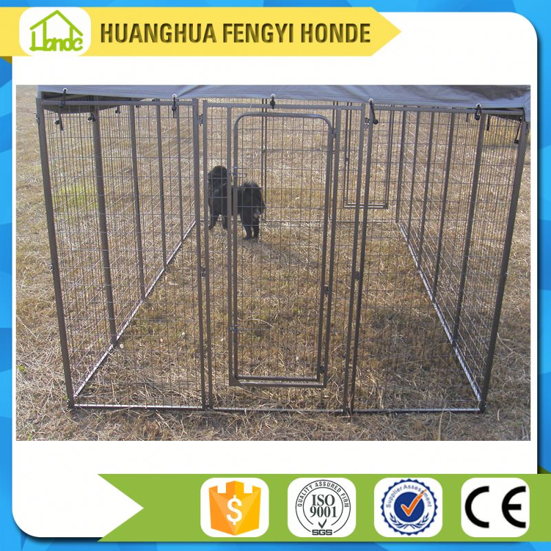 Shijiazhuang HONDE Quality Solid Space Outdoor Dog Kennel Wholesale