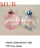 Designer perfumes and fragrance bottle 50ml glass bottles wholesale, pink and light blue