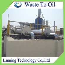 Canton Fair display product used tyre pyrolysis plant refinery machine recycling equipment with free installation