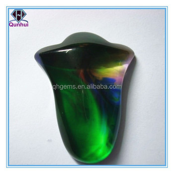 Colorful Glass irregular shaped cubic zirconia