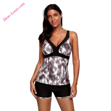 Leopard Print Crisscross Open Back Tankini ladies sexy weekly bikini