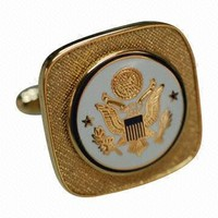 OEM Different styles Custom Metal GOLD TWO IN ONE Cufflinks