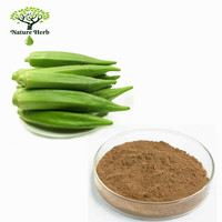 Low prices water soluble okra prices p.e. dried powder okra extract p.e. 10:1
