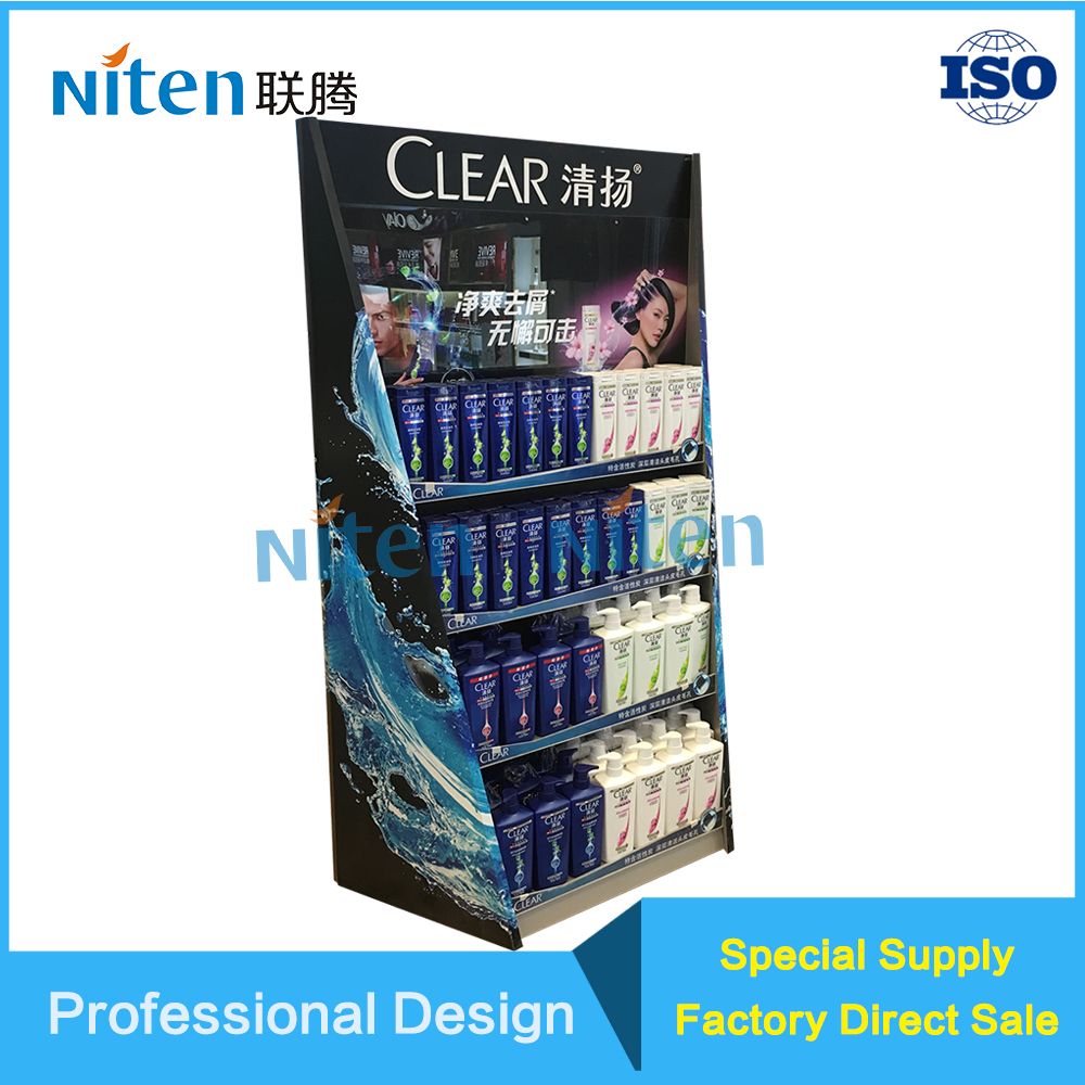 Skin care skin nursing corrugated cardboard display stand