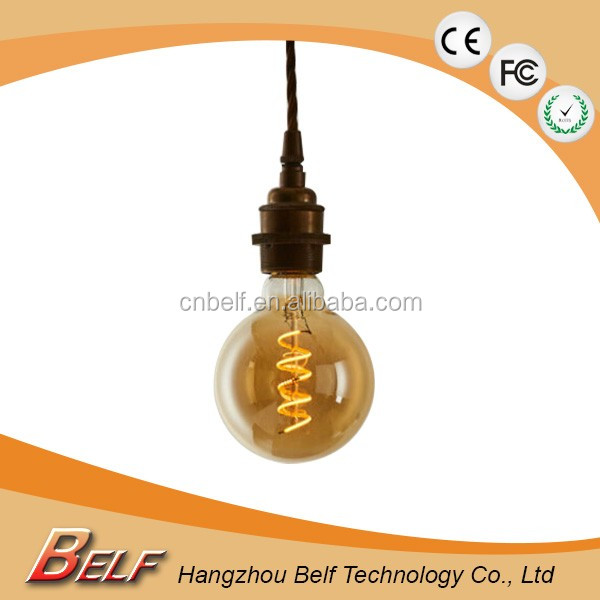clear/minky/amber g95 glass led bulb lighting global filament led lights soft led edison bulb