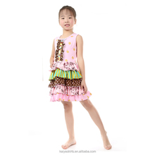Yiwu factory summer ruffle dot colorful toddler party casual new model girl dress