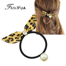 Fashion Pu Leather Bowknot Shape Elastic <strong>Hair</strong> Rope <strong>Accessories</strong>