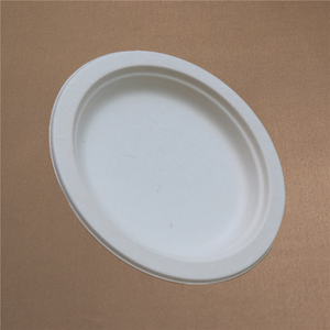 Waterproof Small Round Disposable Paper Plate Compostable Plates Pack
