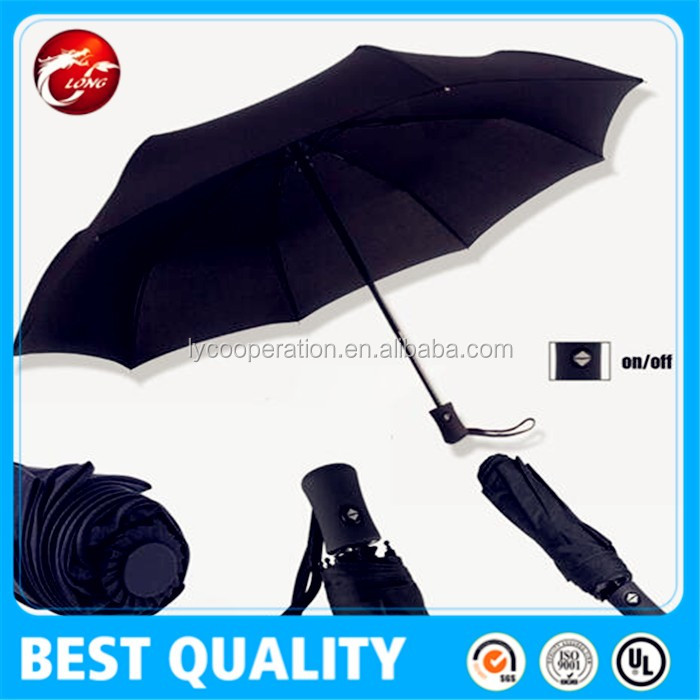 Compact Automatic Windproof Simple Umbrella for lady