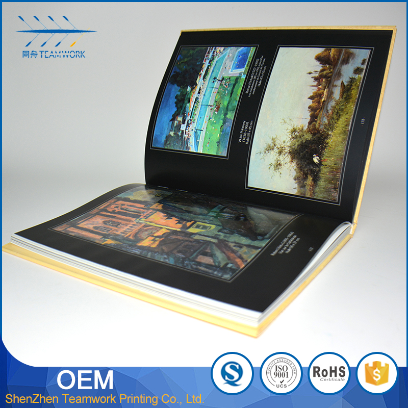 promotional customized postcard art book printing
