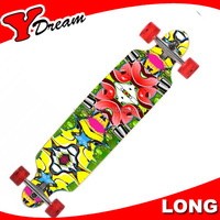 Glass Fiber Slalom roxy long board skateboard For Cruising