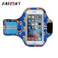HAISSKY Adjustable sweatproof Full Printing Armband Bag Case for iPhone 7 Arm Band Mobile Phone Belt cover