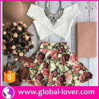 ladies latest fashion two piece floral dress design boutique dresses lahore
