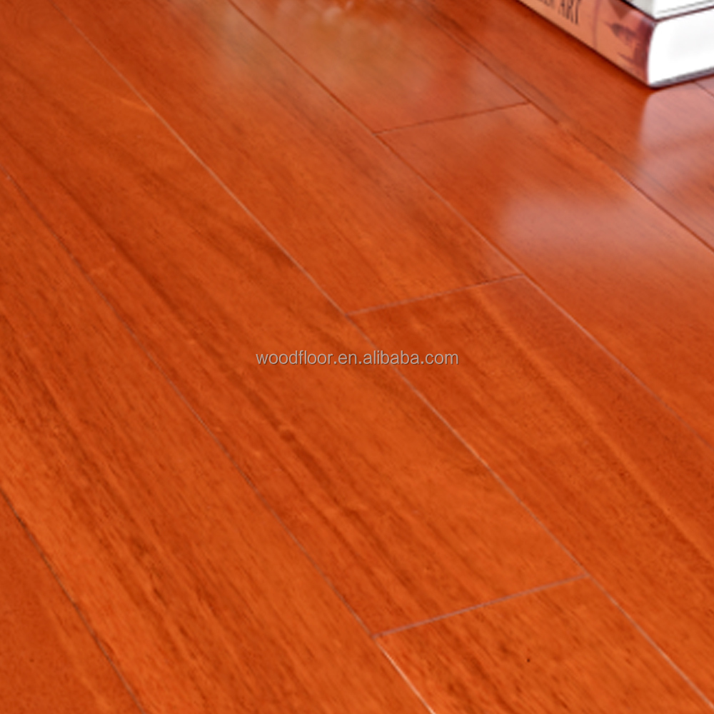UV Lacquer anti-scrach Solid Taun Wooden Flooring