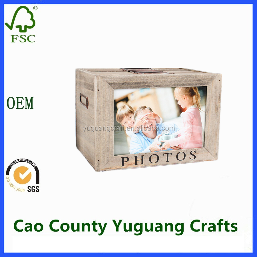 wooden photo box wooden photo album box five compartment photo storage boxes