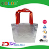 Fashion metallic laminated non woven silver tote bag