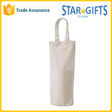 China Supplier Wholesale Single Bottle Plain Cotton Wine Bag With Handles
