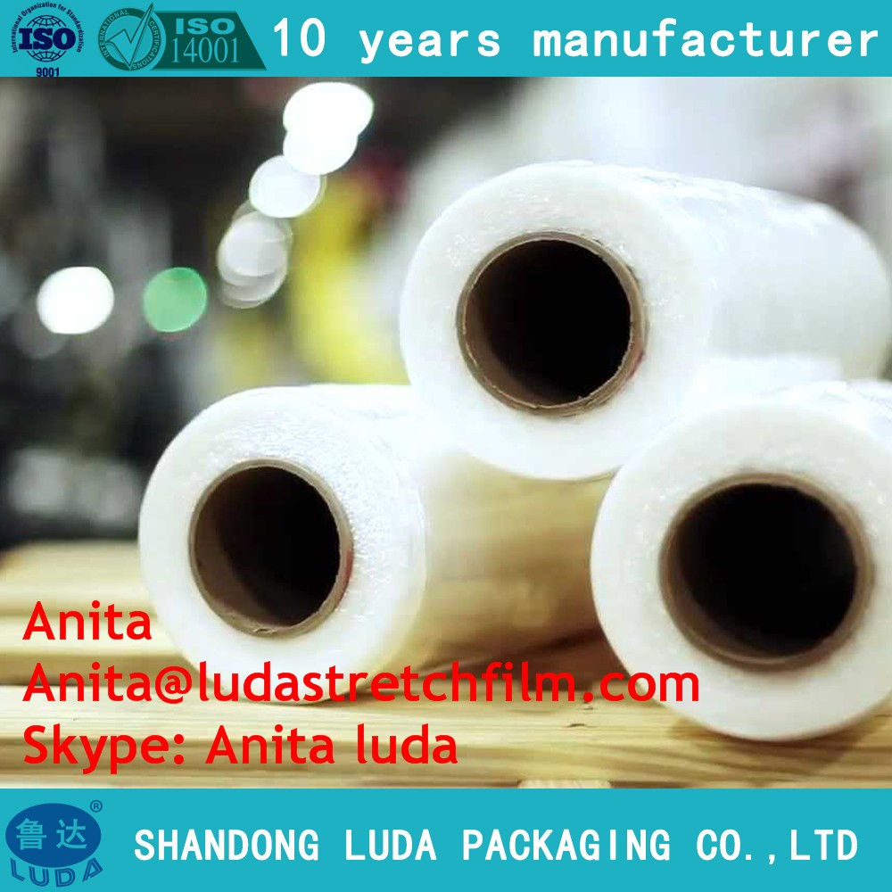 LLDPE pallet polyole shrink wrapping /cling film jumbo roll 1500mm
