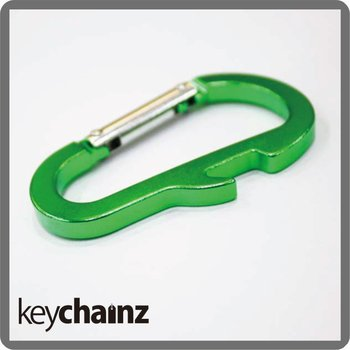 Bottle Opener Carabiner Keyrings With Custom Logo Engraved