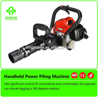 Best Selling Handheld Petrol Powered Gasoline Piling Machine Fence Post Pile Driver