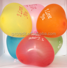 Heart shape latex balloon/Printed latex party balloon/ Wedding decoration heart balloon