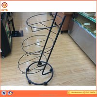 Strong Three Tier Kitchen Storage Rack Vegetable Fruit Food Metal Stand Removable Baskets