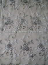 fancy metallic lace tulle fabric with beads fabrics embroidered dress material