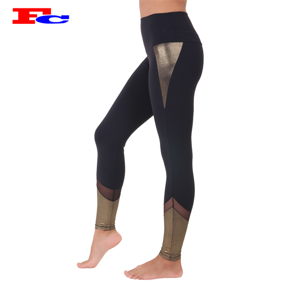 2017 OEM new design custom fitness clothing women slim tights leggings for sports wear