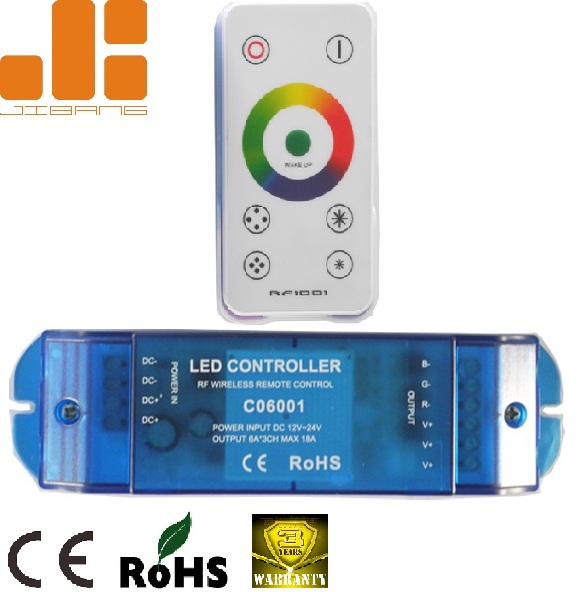 High Quality RF Touch Dimmer 17 Programed Modes 3CH RGB LED Wireless Controller for LED Light CO6001