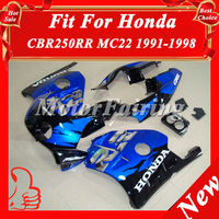 Fairing for Honda CBR250RR MC22 1990-1999 CBR250 90 91 92 93 94 95 96 97 98 99 MC22 fairing bodykit bodywork blue black