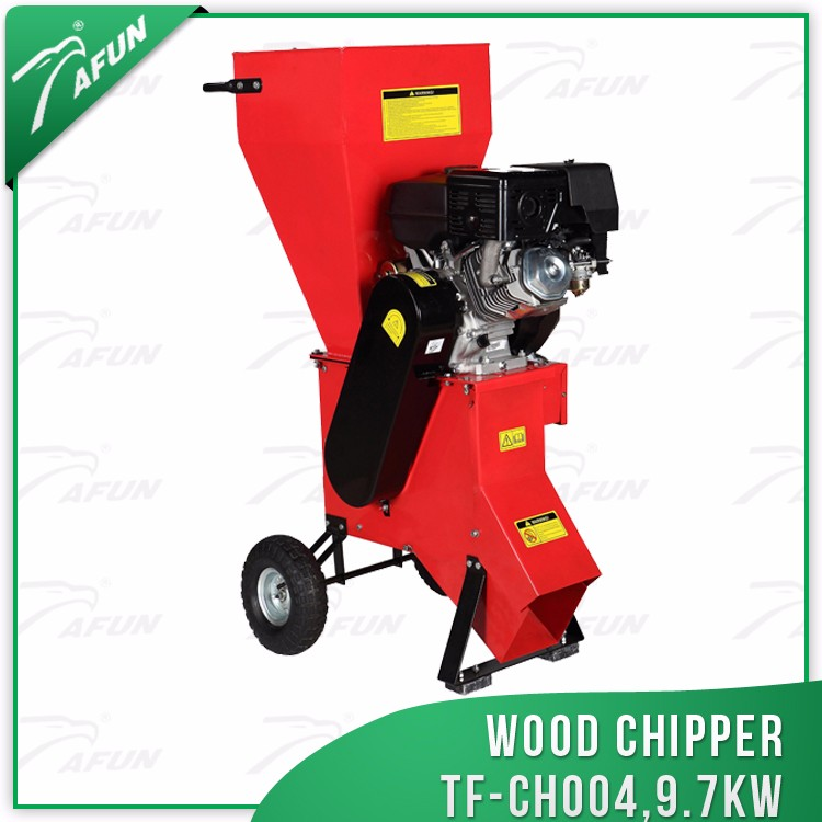 gasoline wood chipper shredder small machine 13hp
