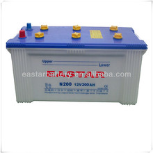 Dry Charged N200 12V 200Ah Exide Battery Price for Vehicles
