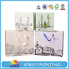 wholesale paper shopping bag, luxury paper shopping bags with company logo full color printing