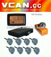 Colorful LCD With 8 sensors Parking Sensor for parking aids// VCAN0387-8