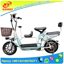 48V 10A14inch Lithium Battery 2 Wheel motorbike Integrated 3 Seat Family Electric Bicycle With Child Seat