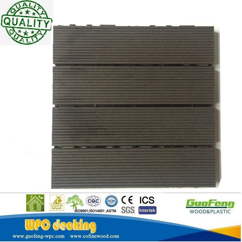 Easy-clean and low price wpc diy flooring/outdoor decking tiles