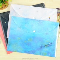 Waterproof Clear PP file holder a4 plastic document bag