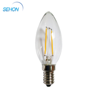 alibaba website E14 1w c35 led candle filament bulb dimmable candle light distributors canada
