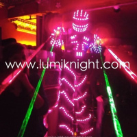 LED Robot Costume For Evening Performance
